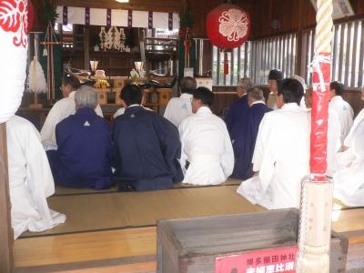 夫婦恵比須宵祭の神事が始まりました
